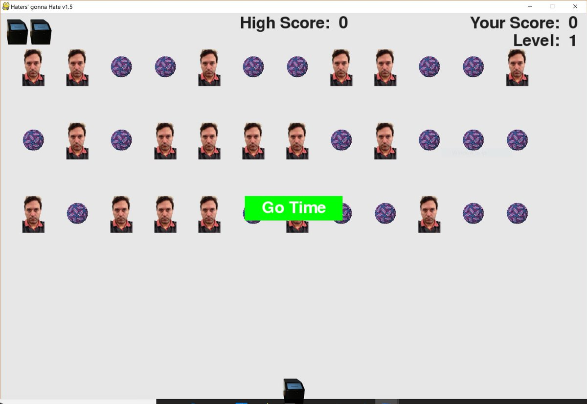 Theranos-themed Space Invaders game, where the object is to beat a Wall Street Journal reporter